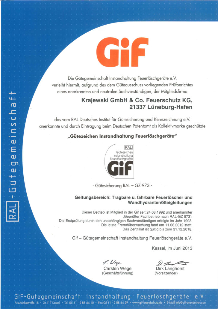 Verleihung Gif-Gütezeichen
